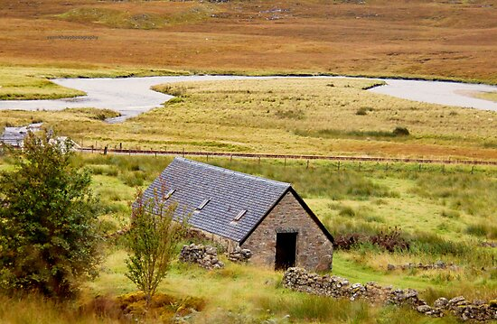 Blackhouse (Along the A832, near Achanalt, Scotland) by Yannik Hay