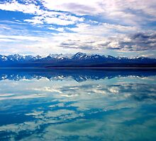 New Zealand lake and mountains landscape by jwwallace
