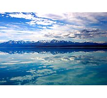 New Zealand lake and mountains landscape Photographic Print