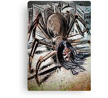 Spider-woman, Art, Print, spider woman, spider-man, marvel, comics, butt, abdomen, insect, girl, super-hero, illustration, drawing, joe badon Canvas Print