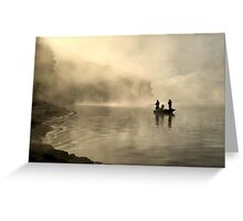 Fishing in the Mist Greeting Card
