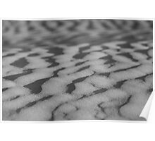 Sand ripples - B&W Poster