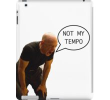 Not quite my tempo iPad Case/Skin