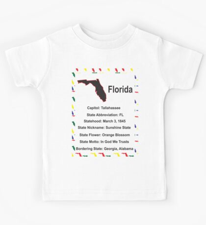 Florida Information Educational Kids Tee