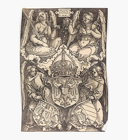 Albrecht Dürer or Durer Coat of Arms of the German Empire and Nuremberg City Poster