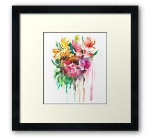 Flowers. Watercolor illustration Framed Print