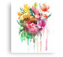 Flowers. Watercolor illustration Canvas Print