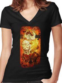 I&I Women's Fitted V-Neck T-Shirt
