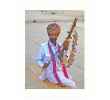 Jaisalmer Musician Art Print