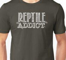 Reptile Addict (White Type) Unisex T-Shirt