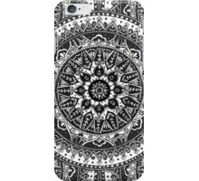 Black and White Mandala Pattern iPhone Case/Skin