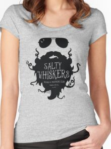 Salty Whiskers Beard & Mustache Club Women's Fitted Scoop T-Shirt