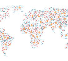 Poka-Dotted World Map by art101