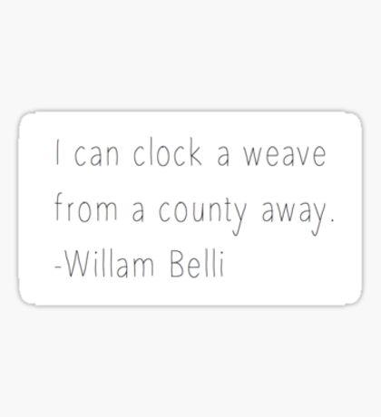 Clock A Weave Sticker