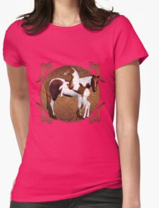 Mare With Foal T-Shirt Womens Fitted T-Shirt
