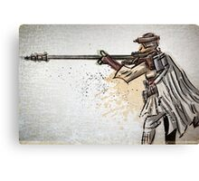 Princess Leia, Boushh, Bounty Hunter, Art, print, Star Wars, Illustration, Return of the Jedi, Carrie Fisher, Jabba the Hut, joe badon, sci fi, science fiction, fantasy, girl, female, disguise Canvas Print