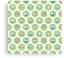 Kawaii Cupcake Pattern Canvas Print