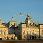 Sun setting on Horse Guards, Whitehall by Stephanie Owen
