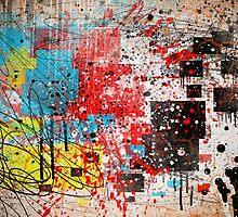 Abstract, Splatter, Paint, Print, Thrown paint, jackson pollock, painting, art, picture, poster, drip, aged, expressionist, pop art, liquid, action, joe badon by Joe Badon