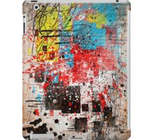 Abstract, Splatter, Paint, Print, Thrown paint, jackson pollock, painting, art, picture, poster, drip, aged, expressionist, pop art, liquid, action, joe badon iPad Case/Skin