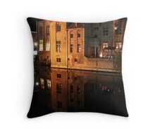 Old House at canal (Brugge, Belgium) Throw Pillow