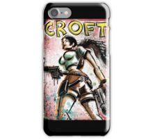 Lara Croft, Tomb Raider, Art, Print, Video Game, Movie, Comic Book, Geekery, Playstation, Illustration,Drawing, Birthday Present, joe badon, nintendo, sega, film, movie iPhone Case/Skin