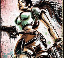Lara Croft, Tomb Raider, Art, Print, Video Game, Movie, Comic Book, Geekery, Playstation, Illustration,Drawing, Birthday Present, joe badon, nintendo, sega, film, movie by Joe Badon