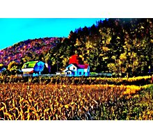 Wisconsin Fall Farm in Fractalius Photographic Print