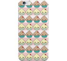 Cute Cupcake Striped Pattern iPhone Case/Skin