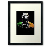 "Conor McGregor ""Irish Colors"" Framed Print"
