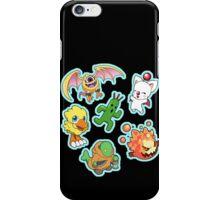 Final Fantasy Mascots - Moogle, Bomb, Tonberry, Chocobo, Ahriman, Cactuar iPhone Case/Skin