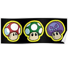 Super Mario Bros. - Mushrooms Poster