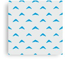 Totoro Inspired Blue Boomerang Pattern Canvas Print