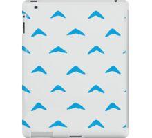 Totoro Inspired Blue Boomerang Pattern iPad Case/Skin