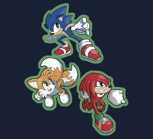 Sonic the Hedgehog - Sonic, Tails, and Knuckles Baby Tee