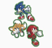 Sonic the Hedgehog - Sonic, Tails, and Knuckles Kids Tee