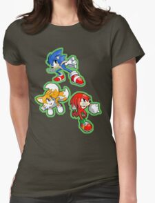 Sonic the Hedgehog - Sonic, Tails, and Knuckles Womens Fitted T-Shirt