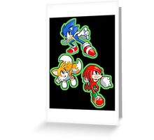 Sonic the Hedgehog - Sonic, Tails, and Knuckles Greeting Card