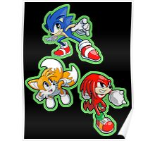 Sonic the Hedgehog - Sonic, Tails, and Knuckles Poster