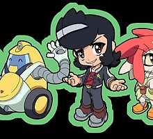 Space Dandy - Dandy, Meow, and QT by 57MEDIA