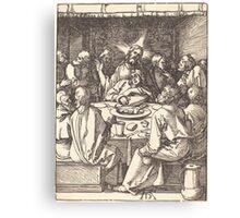 Albrecht Dürer or Durer The Last Supper (3) Canvas Print