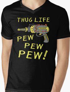 Thug Life (Pew Pew Pew) Mens V-Neck T-Shirt