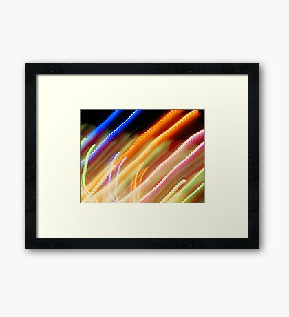 Coloured Straights Framed Print