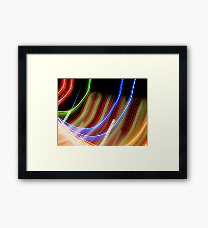 Coloured Curves Framed Print