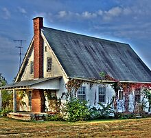 Old School House in the Fall by David Owens