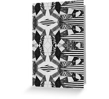 Black and White Aztec Print Greeting Card