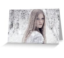 Pure As Snow Greeting Card