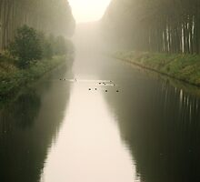 Channel in the fog by Adri  Padmos