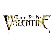 """Bullet For My Valentine """"Hand of Blood"""" Logo Photographic Print"""