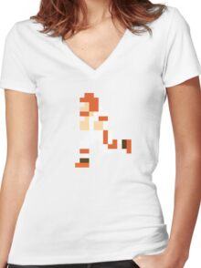 Tecmo Browns Women's Fitted V-Neck T-Shirt